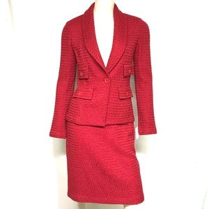 """St John wool blend """"swagger"""" suit"""